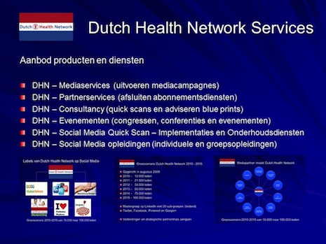 Producten en Diensten Dutch Health Network - november 2012